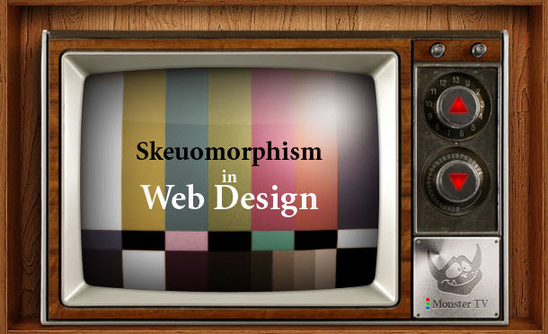 webdesign with Skeuomorphism Style