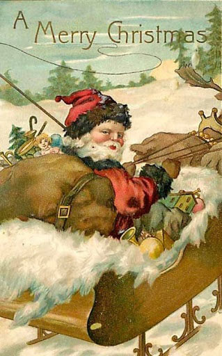 Antique Christmas Santa Postcards  and Vintage Illustrations (11)