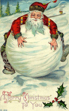 Antique Christmas Santa Postcards  and Vintage Illustrations (13)