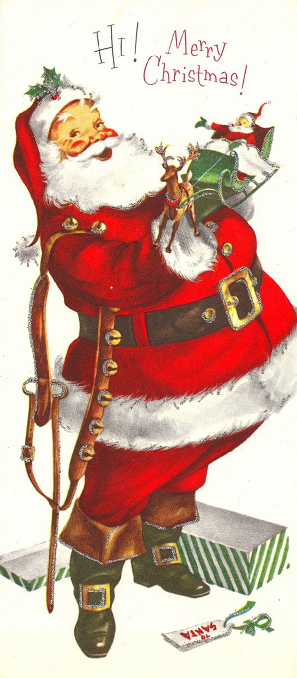 Antique Christmas Santa Postcards  and Vintage Illustrations (14)