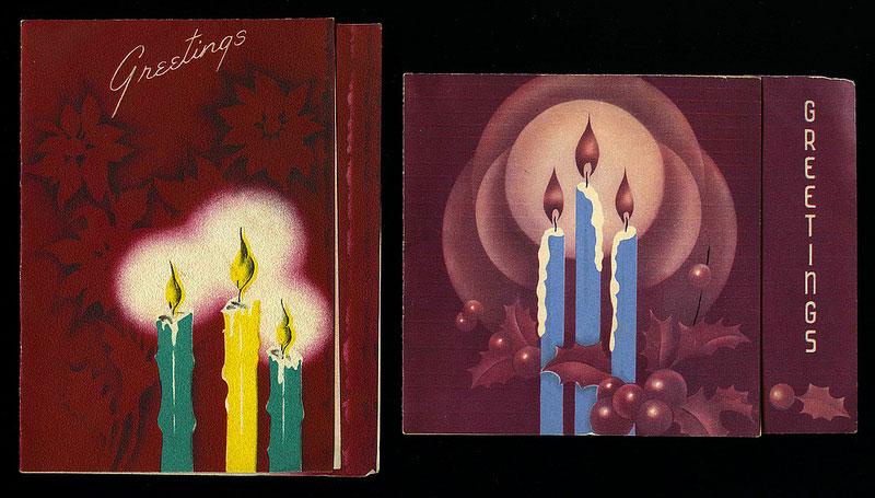 Antique Christmas Santa Postcards and Vintage Illustrations