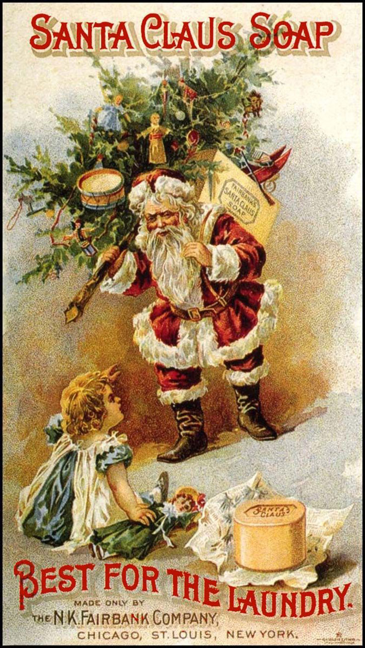 Antique Christmas Santa Postcards  and Vintage Illustrations (23)