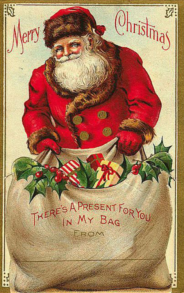 Antique Christmas Santa Postcards  and Vintage Illustrations (24)