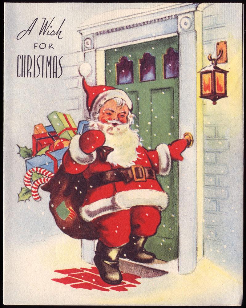 Antique Christmas Santa Postcards  and Vintage Illustrations (5)