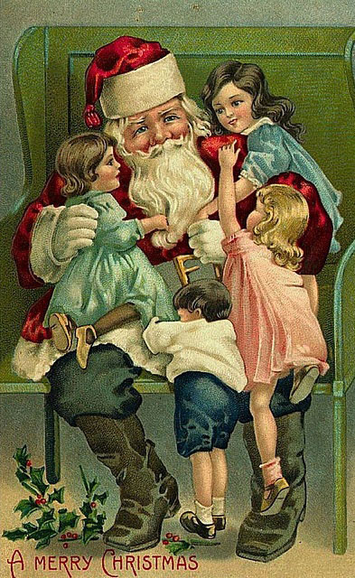 Antique Christmas Santa Postcards  and Vintage Illustrations (9)