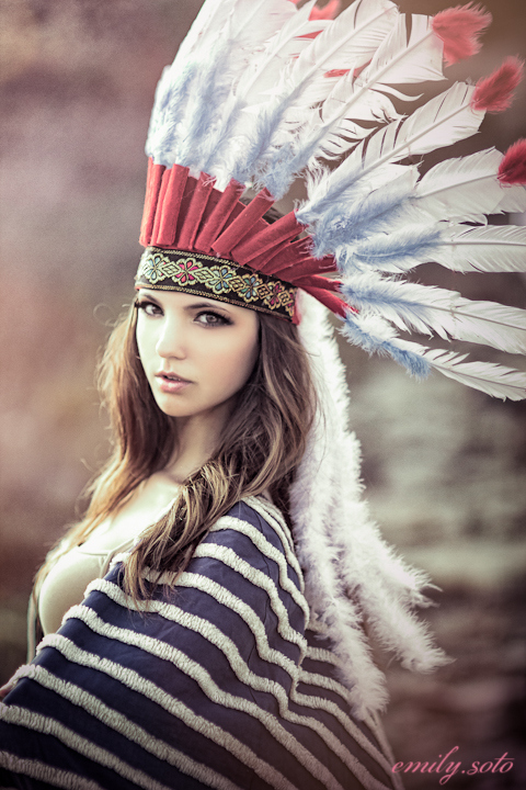 Modern Red Indian - Fashion Photo shoot