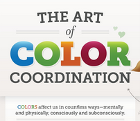Learn Art of Color Co-ordination in Web Design [Infographic]