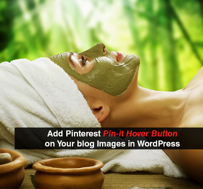 Add Pinterest Pin-it Hover Button Over Your blog Images in WordPress