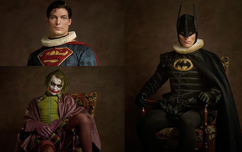 Modern Superheroes and Villains in Digital Flemish Paintings