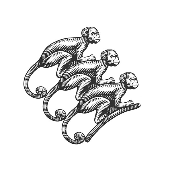 Handmade Illustration of Creatures created using Knife Tool onto Scratchboard (22)