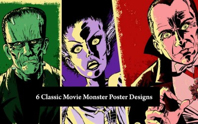 6 Classic Movie Monster Poster Designs