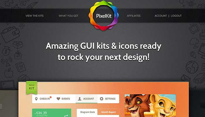Giveaway #105 Premium UI Kit Mockups for Design Readers