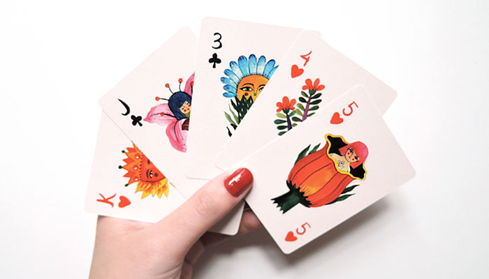 Vintage Style Playing Cards Illustration for Inspiration