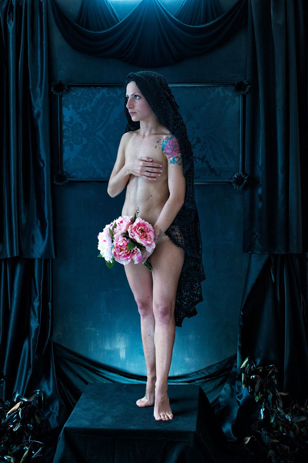 Bond Between Human and Peony - Fine art Nude Project (7)