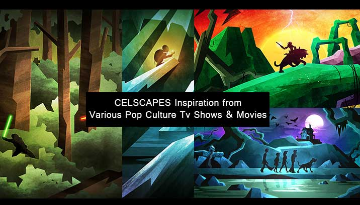 Celscapes Inspiration: Various Pop-Culture Movies and Tv Shows Landscape