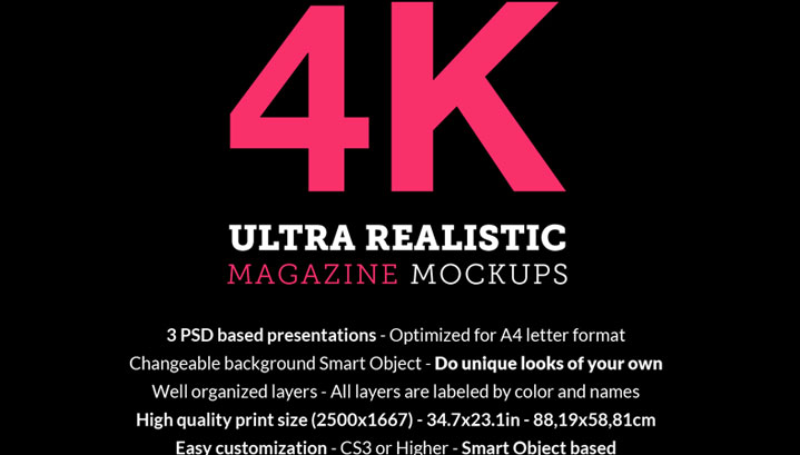 Download Free Magazine Mockup PSD – 4K Resolution