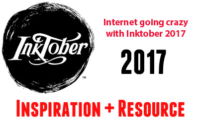 Join Inktober 2017 by Drawings & Doodling With Inspiration + Resource